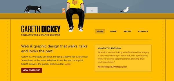 4. yellow based web design