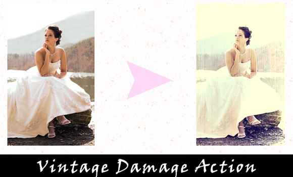 damage actions photoshop vintage freebie download