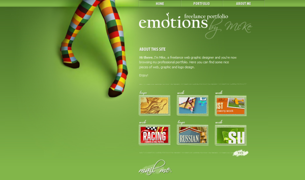 5. green based web design