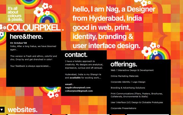 5. orange based web design