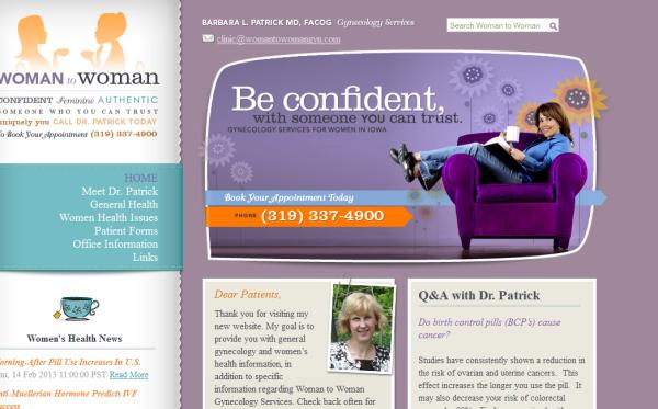 5. purple based web design