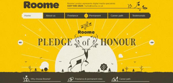 5. yellow based web design