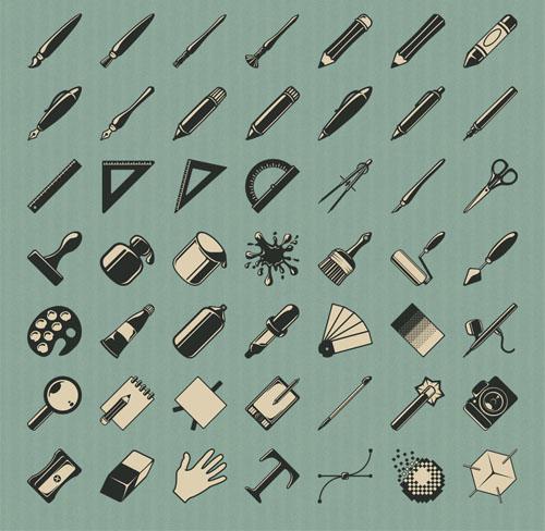 8. retro icons