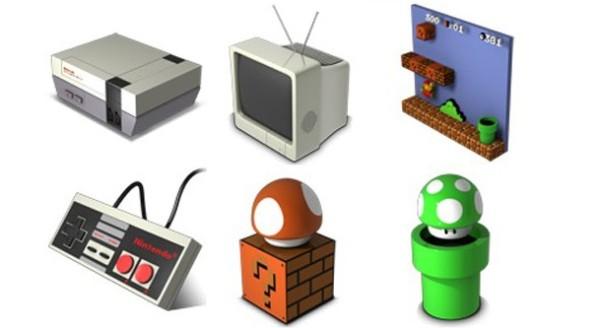 9. retro icons