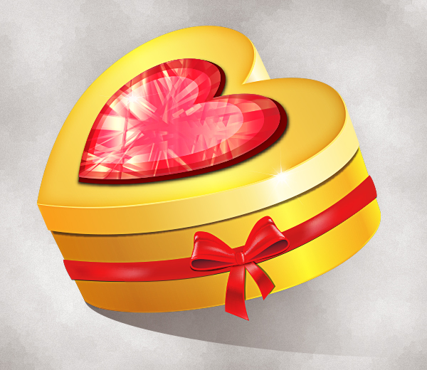 Create a Stylish, Heart-Shaped 3D Gift Box in Illustrator