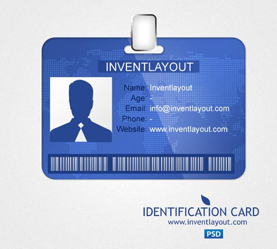 Identification Card PSD
