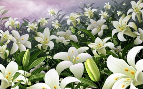 White-Lilies-easter-wallpaper