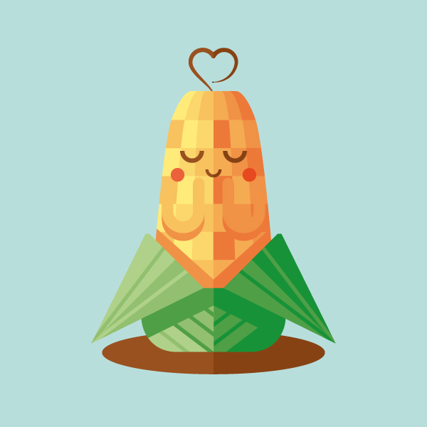 How to Create a Cute Corn Illustration with Basic Shapes in Illustrator