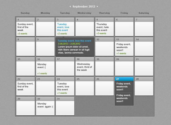 Calendar Of Events Design : Beautiful free calendar psd designs