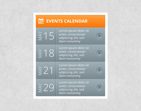 40 beautiful free calendar psd designs idevie for Sample calendar of events template