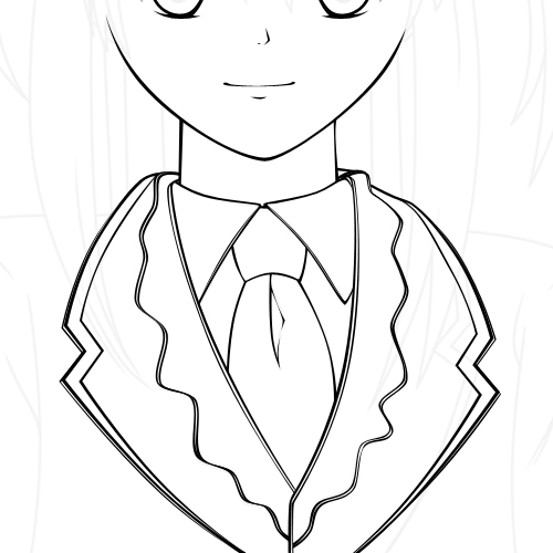 Line Art For Beginners : Creating a vector anime character in adobe photoshop