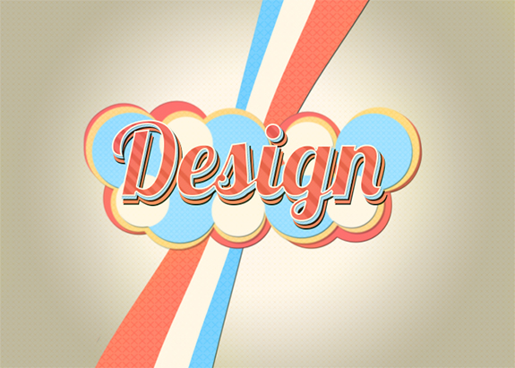 Create a Colorful, Lively Retro Text Effect in Photoshop
