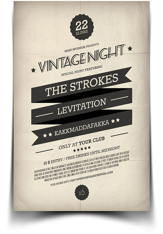 20 beautiful flyer designs for inspiration idevie - Flyer inspiration ...