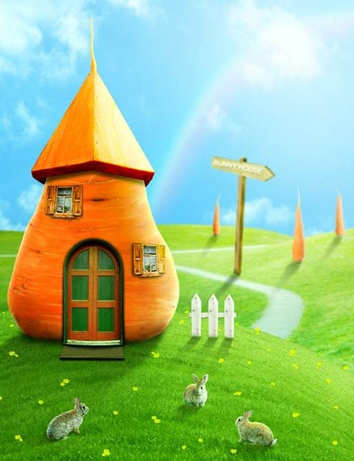 Create a Cute Bunny House in Photoshop