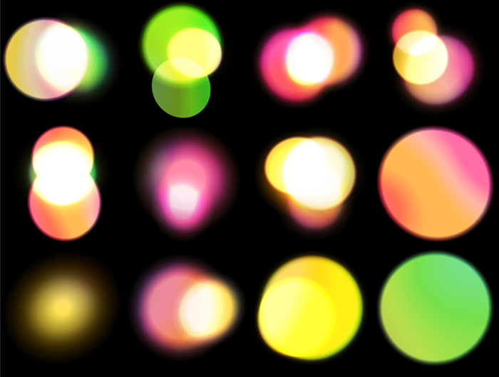 Freebie: 12 Large Bokeh Brushes