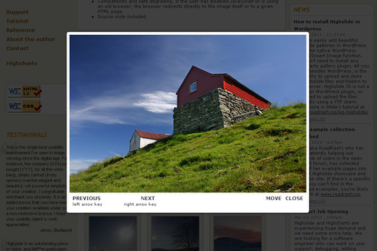 how to create photo gallery grid with modal window lightbnox