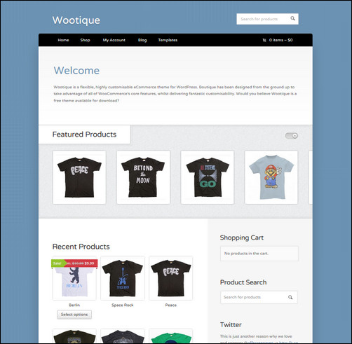 20 Free Ecommerce WordPress Themes