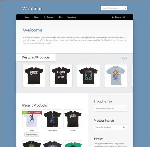 free ecommerce wp themes