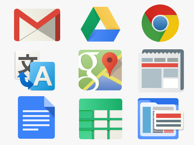 download psd google ui icons set