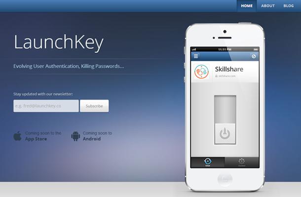 mobile app startup landing page design