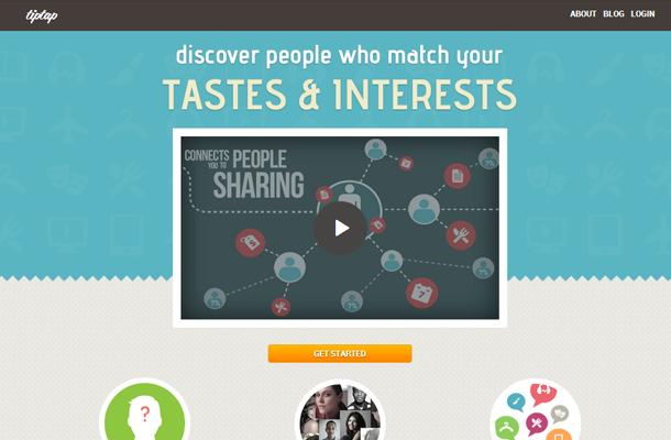 tiptap startup homepage layout design