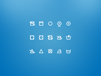 clothes clean icons set freebie download