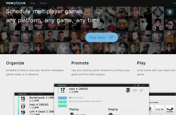 games music homepage website startup network