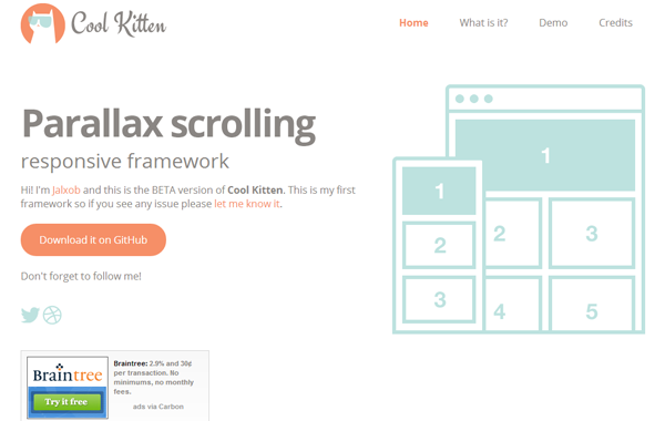 parallax scrolling jquery plugin open source