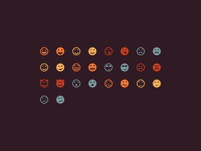 colorful flat icons freebie emotes