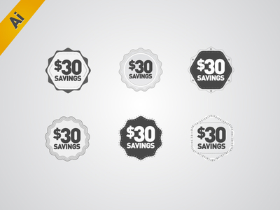 Adobe Illustrator freebie icons pack set