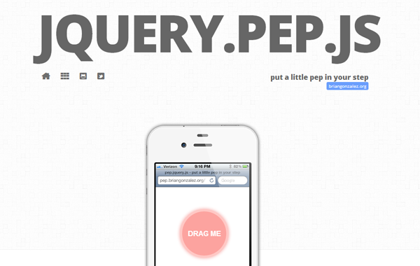 jquery pep plugin dynamic animation motion
