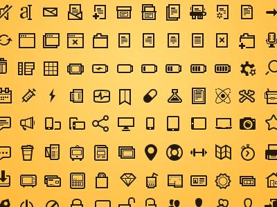 basic black dark website ui icons set
