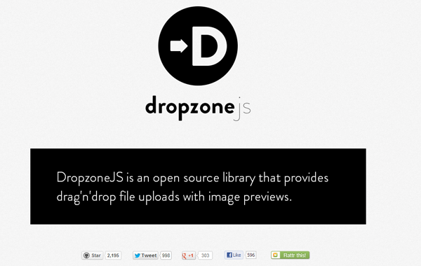 dropzone js jquery plugin library