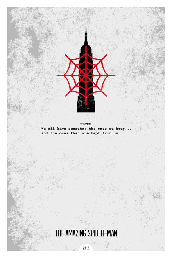 The amazing Spiderman Movie Poster Quote