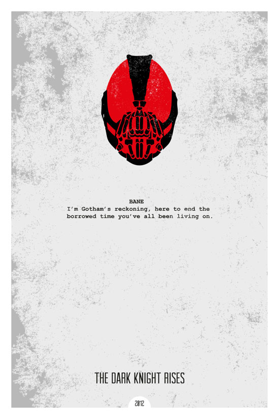 The Dark Knight Rises Movie Poster Quote