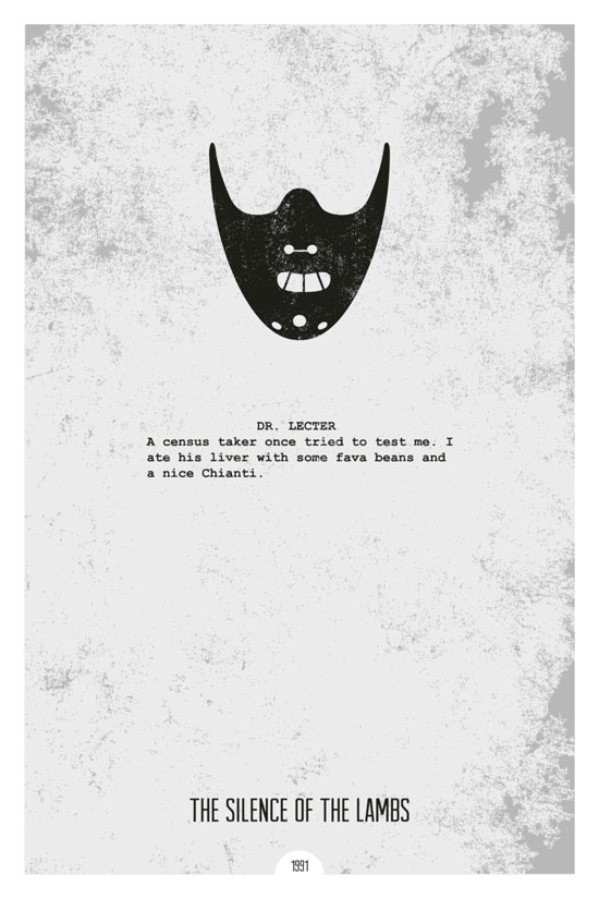 Silence of the lambs Movie Poster Quote