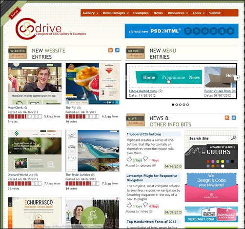 CSS-Drive-web-design-gallery
