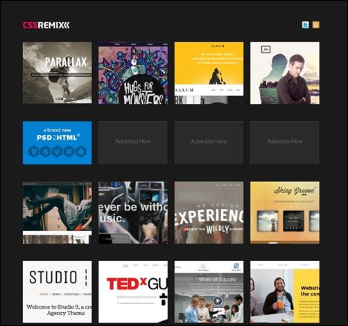 CSSRemix-web-design-gallery