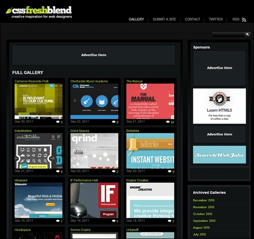 Css-Fresh-Blend-web-design-gallery