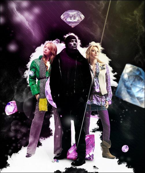 Diamond Advertisement Poster in Photoshop