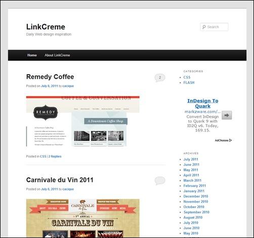 Link-Creme-web-design-gallery