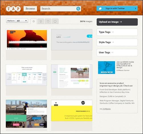 Pattern-Tap-web-design-gallery