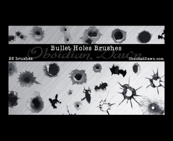 bullet-holes-brushes