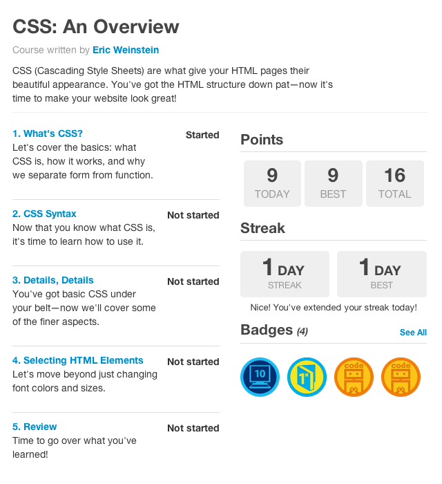 css-best-codeacademy