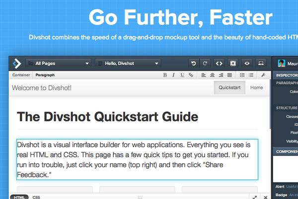 divshot website ui inspiration layouts flat graphics