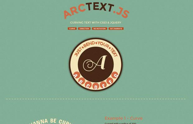 Artctext.js