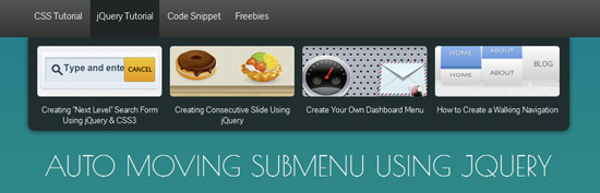 Auto Moving Submenu Using jQuery