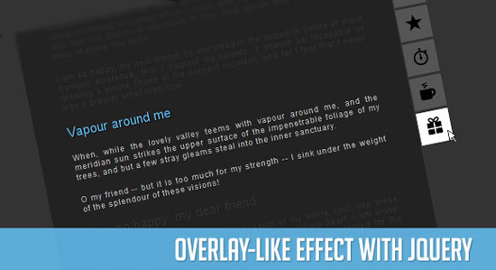 Overlay-like Effect with jQuery