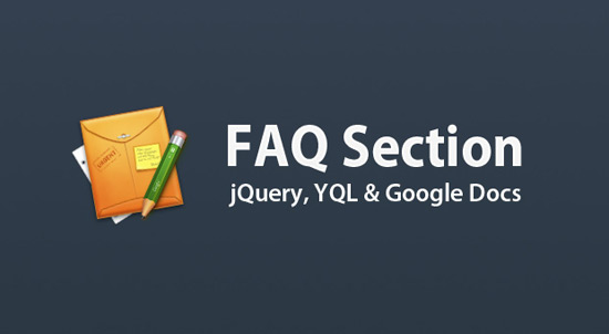 Dynamic FAQ Section w/ jQuery, YQL & Google Docs
