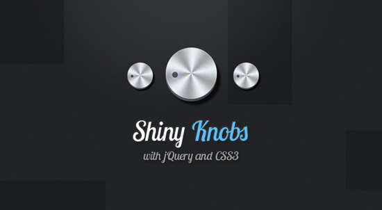 Shiny Knob Control with jQuery and CSS3
